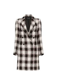 Manteau à carreaux noir et blanc Etro