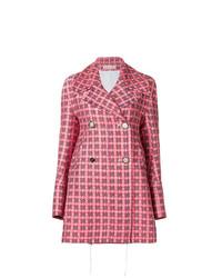 Manteau à carreaux rouge Marni