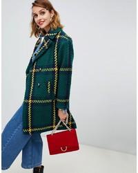 Manteau à carreaux vert foncé ASOS DESIGN