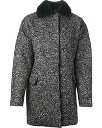Manteau à chevrons gris foncé