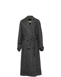 Manteau à chevrons gris foncé Burberry