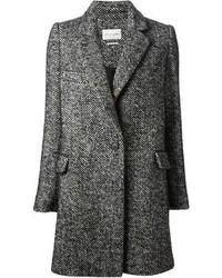 Manteau à chevrons gris foncé Etoile Isabel Marant