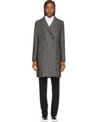 Manteau à chevrons gris foncé Public School