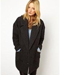 Manteau à chevrons gris foncé Selected