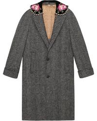 Manteau à chevrons gris Gucci