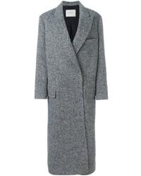 Manteau à chevrons gris Lanvin