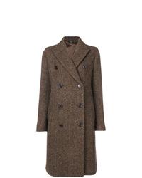 Manteau à chevrons marron
