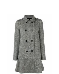 Manteau à chevrons noir et blanc RED Valentino