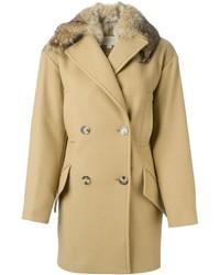 Manteau à col fourrure brun clair MICHAEL Michael Kors