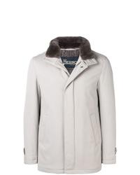 Manteau à col fourrure gris Herno
