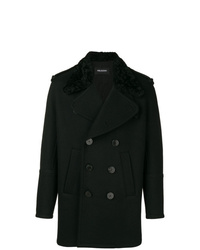 Manteau à col fourrure noir Neil Barrett