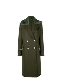 Manteau à col fourrure olive Ermanno Scervino