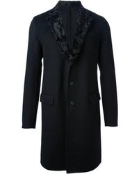 Manteau à col fourrure