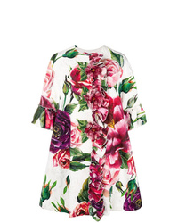 Manteau à fleurs blanc Dolce & Gabbana