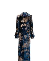 Manteau à fleurs bleu marine Ralph Lauren