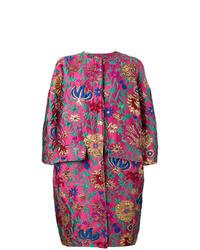 Manteau à fleurs fuchsia La Doublej