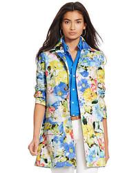Manteau à fleurs multicolore