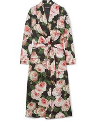 Manteau à fleurs multicolore Dolce & Gabbana