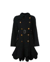 Manteau à fleurs noir Comme Des Garçons Vintage