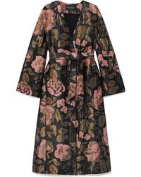 Manteau à fleurs noir Etro