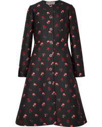 Manteau à fleurs noir Lela Rose