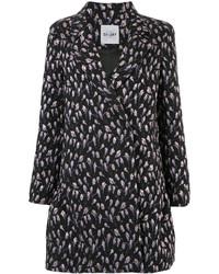 Manteau à fleurs noir