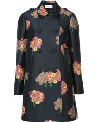 Manteau à fleurs noir RED Valentino