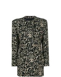 Manteau à fleurs noir Versace Vintage