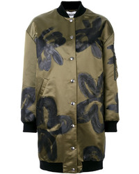 Manteau à fleurs olive Moschino