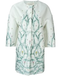 Manteau à fleurs vert menthe