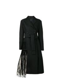 Manteau à franges noir Proenza Schouler