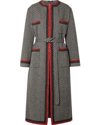 Manteau à motif zigzag noir Gucci