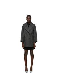Manteau à motif zigzag noir RED Valentino