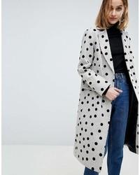 Manteau á pois gris