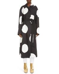 Manteau á pois noir et blanc