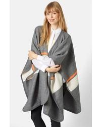 Manteau à rayures horizontales gris