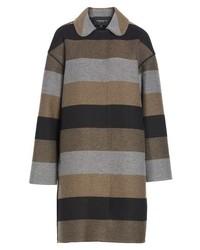 Manteau à rayures horizontales multicolore