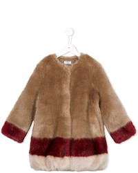 Manteau à rayures horizontales tabac MonnaLisa