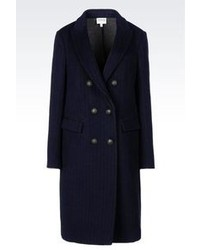 Manteau à rayures verticales bleu marine