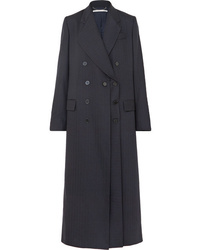 Manteau à rayures verticales bleu marine Stella McCartney