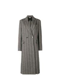 Manteau à rayures verticales gris foncé Stella McCartney