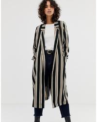Manteau à rayures verticales noir et blanc ASOS DESIGN
