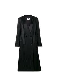 Manteau à rayures verticales noir MM6 MAISON MARGIELA
