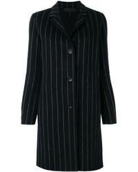 Manteau à rayures verticales noir Rag & Bone