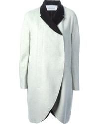 Manteau blanc et noir