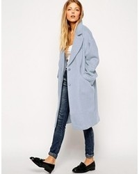 Manteau bleu clair Asos