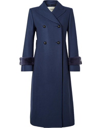 Manteau bleu marine Fendi