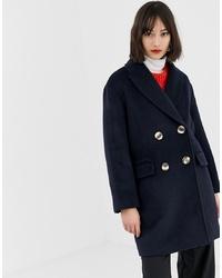 Manteau bleu marine Mango