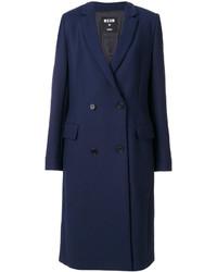 Manteau bleu marine MSGM