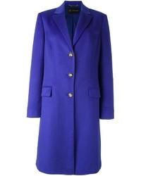 Manteau bleu marine Versace